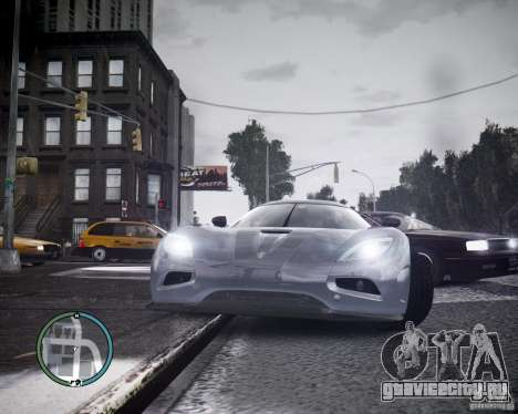 Koenigsegg Agera для GTA 4 вид слева