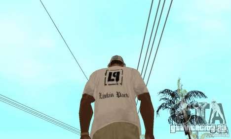 LP shirt white для GTA San Andreas второй скриншот