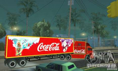 КамАЗ 54112 Новогодний для GTA San Andreas вид слева