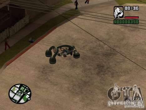 New Bravura UFO для GTA San Andreas вид сзади слева