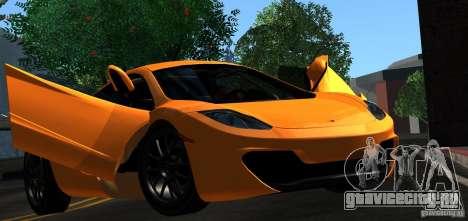 McLaren MP4-12C TT Black Revel для GTA San Andreas салон