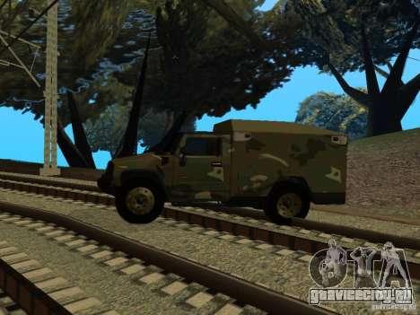 Hummer H2 Army для GTA San Andreas вид сзади слева