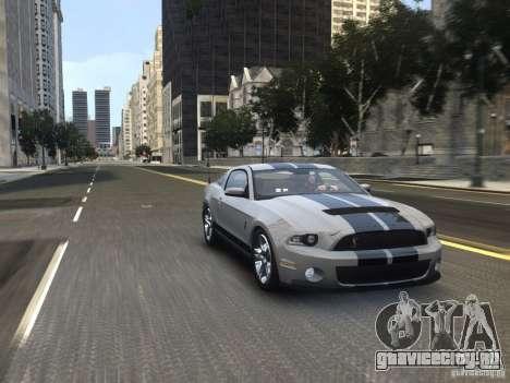Shelby GT500 2010 для GTA 4 вид справа