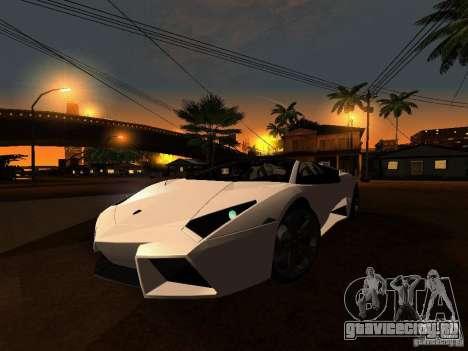 Lamborghini Reventon Roadster для GTA San Andreas вид слева