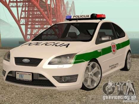 Ford Focus ST Policija для GTA San Andreas