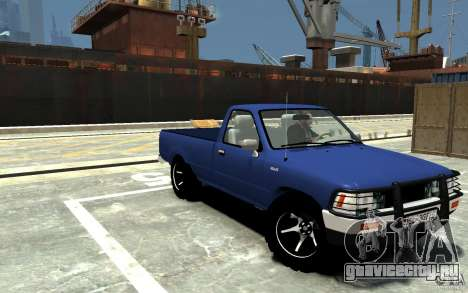 Toyota Hilux 1989-1993 Single cab v1 для GTA 4 вид сзади