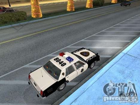 Ford LTD Crown Victoria Interceptor LAPD 1985 для GTA San Andreas вид сзади слева