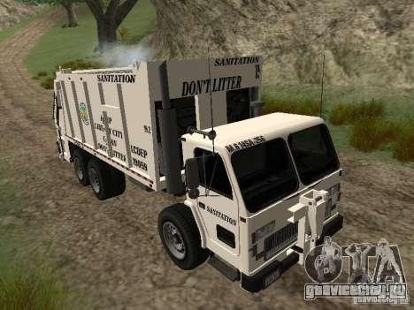 Мусоровоз из GTA 4 для GTA San Andreas вид изнутри