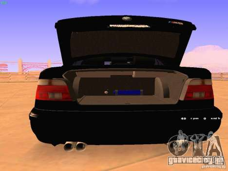 BMW M5 E39 Stanced для GTA San Andreas вид справа