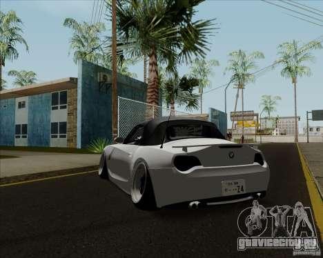 BMW Z4 Hellaflush для GTA San Andreas вид сзади слева