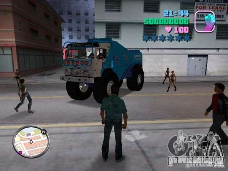 Камаз Master для GTA Vice City вид сзади