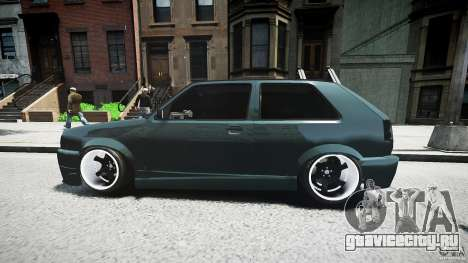 Volkswagen Golf 2 Low is a Life Style для GTA 4 вид сверху