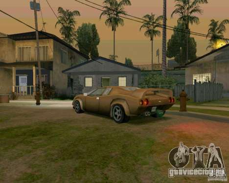 Infernus from Vice City для GTA San Andreas вид справа