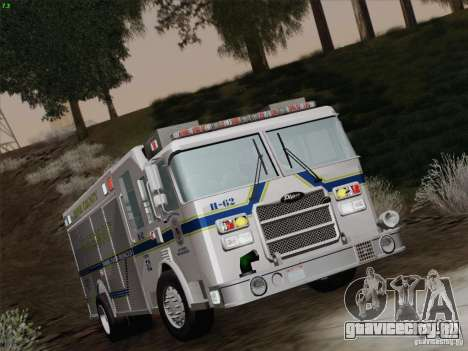 Pierce Fire Rescues. Bone County Hazmat для GTA San Andreas вид сверху