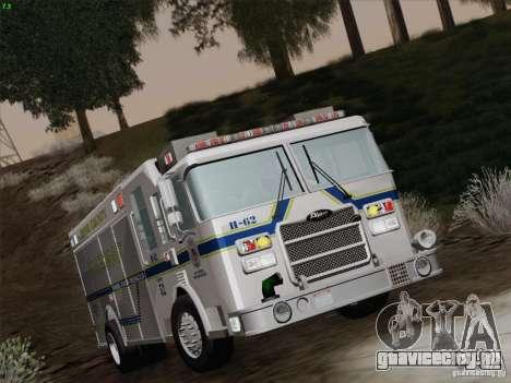 Pierce Fire Rescues. Bone County Hazmat для GTA San Andreas вид сверху
