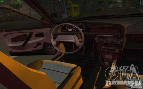 ВАЗ 2115 Stock V 1.0 для GTA San Andreas вид изнутри