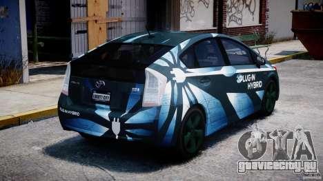 Toyota Prius 2011 PHEV Concept для GTA 4 вид сбоку