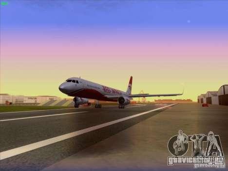 Tupolev Tu-204 Red Wings Airlines для GTA San Andreas вид сзади