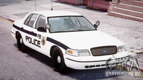 Ford Crown Victoria FBI Police 2003 для GTA 4 вид сбоку