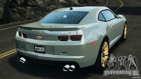 Chevrolet Camaro ZL1 2012 v1.2 для GTA 4 вид сзади слева