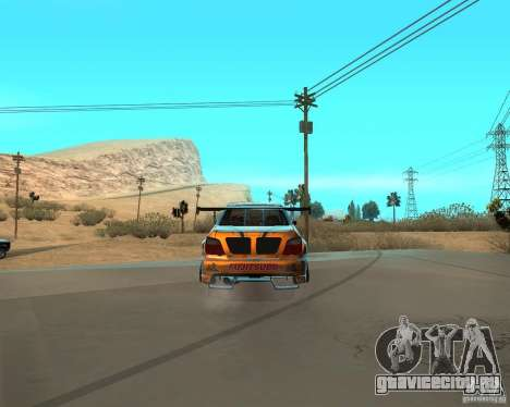 Subaru Impreza WRX Team Orange DRIFT SA-MP для GTA San Andreas вид сзади слева