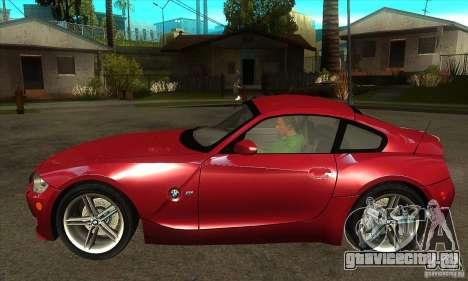 BMW Z4 - Stock для GTA San Andreas вид слева
