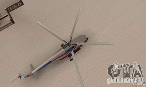 МИ-17 гражданский (Русский) для GTA San Andreas вид справа