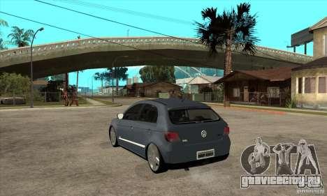 Volkswagen Gol G5 для GTA San Andreas вид сзади слева