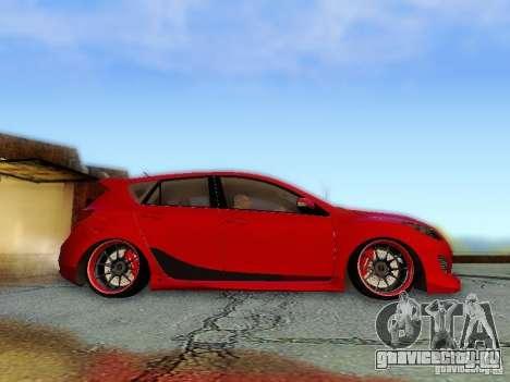 Mazda Speed 3 2010 для GTA San Andreas вид справа
