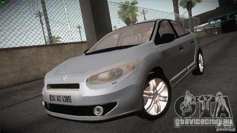 Renault Fluence для GTA San Andreas