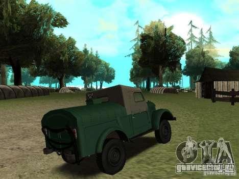 ГАЗ 69 АПА 12 для GTA San Andreas вид справа