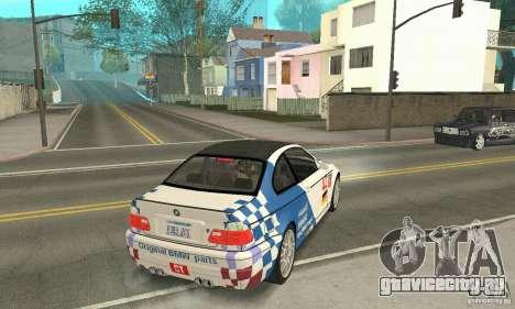BMW M3 Tunable для GTA San Andreas вид снизу