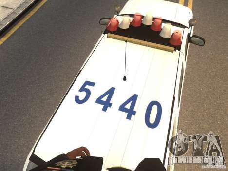Chevrolet Tahoe NYPD V.2.0 для GTA 4 вид сзади