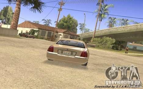 Lincoln Towncar Secret Service для GTA San Andreas вид справа