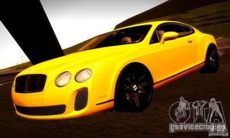 Bentley Continental Supersports для GTA San Andreas салон