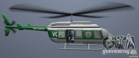 VCPD Chopper для GTA Vice City вид справа