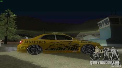 Subaru Impreza WRX No Fear для GTA San Andreas вид справа