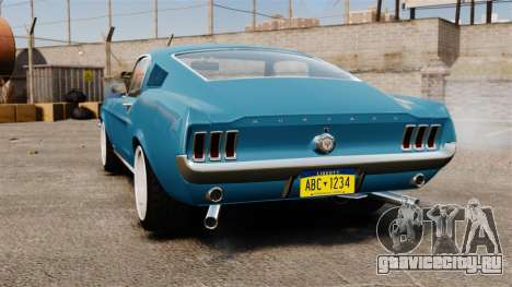 Ford Mustang Customs 1967 для GTA 4 вид сзади слева