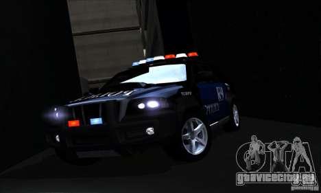 NFS Undercover Police SUV для GTA San Andreas вид сверху