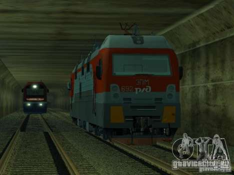 ЭП1М-392 ОАО РЖД для GTA San Andreas вид сзади