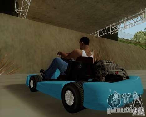 Kart для GTA San Andreas вид сзади