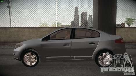 Renault Fluence для GTA San Andreas вид сзади