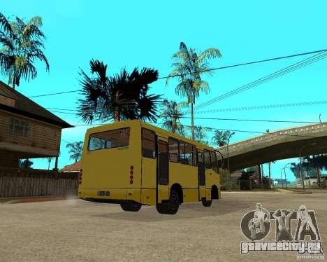 Маршрутка Богдан A092 для GTA San Andreas вид справа