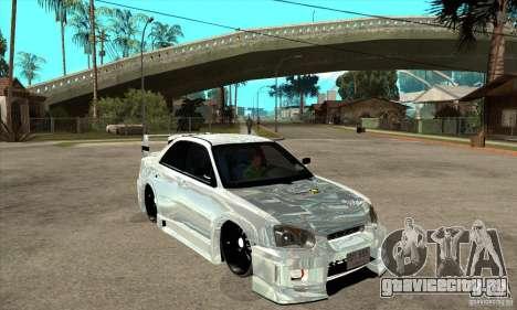 Subaru Impreza Tunned для GTA San Andreas вид сзади