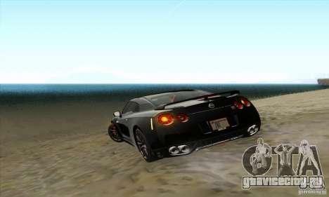 Nissan GT-R R-35 2012 для GTA San Andreas вид сбоку