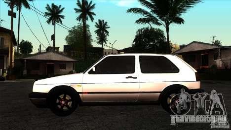 VW Golf 2 для GTA San Andreas вид слева