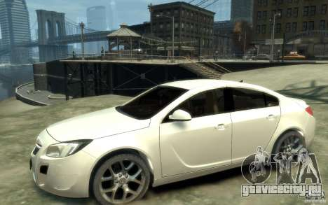 Opel Insignia OPC 2010 для GTA 4 вид слева
