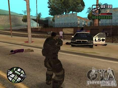 Доминик Сантьяго из игры Gears of War 2 для GTA San Andreas третий скриншот