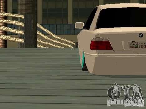BMW 750i JDM для GTA San Andreas вид сзади слева