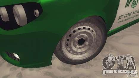 Fiat Siena Carabineros De Chile для GTA San Andreas вид сзади